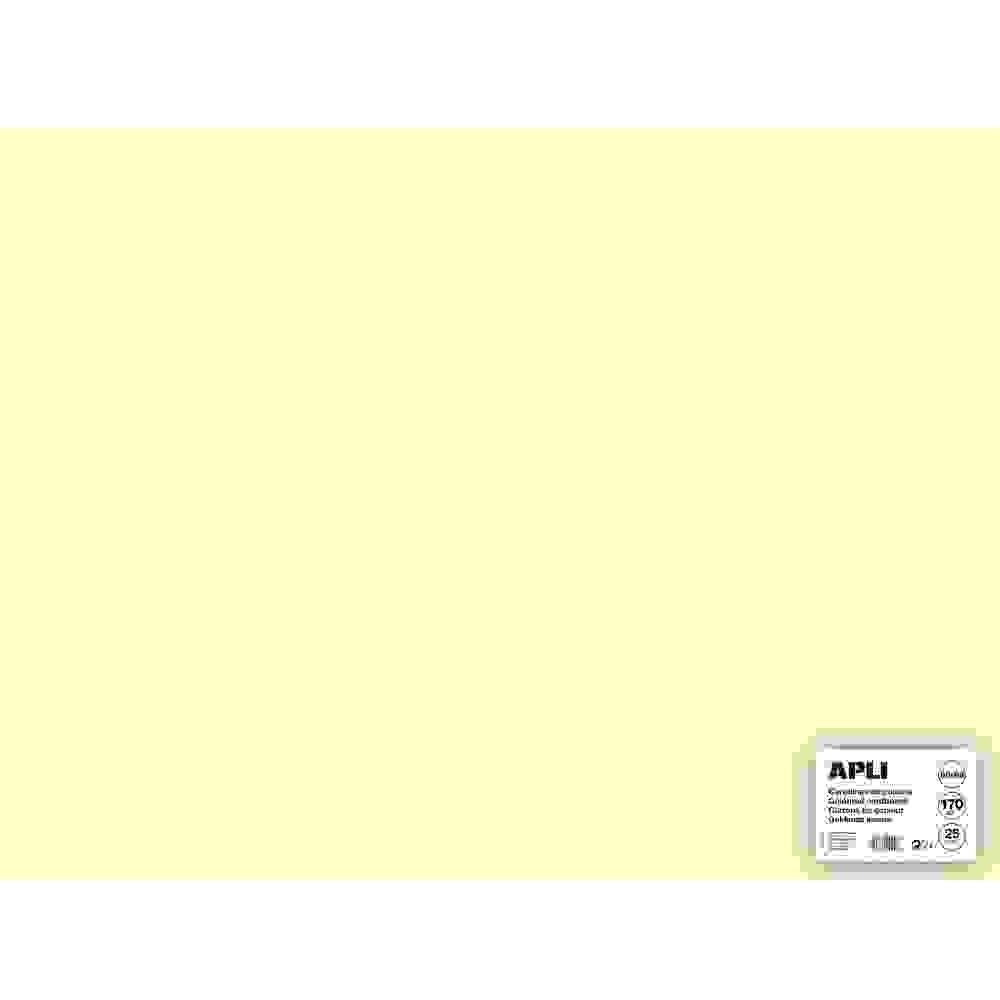 25 Hojas Cartulina 50x65cm 180gr Color Marfil Apli 14255