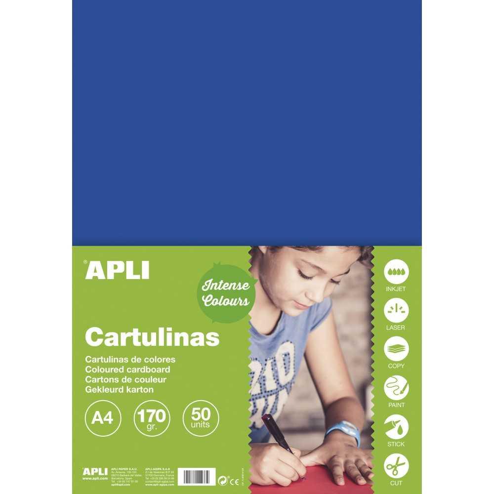 50 Hojas Cartulina A4, 170gr Color Hierba Apli 14240