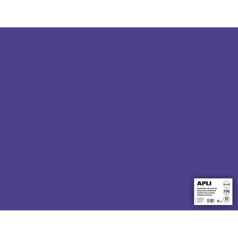 25 Hojas Cartulina 50x65cm Color Morado Apli 14273