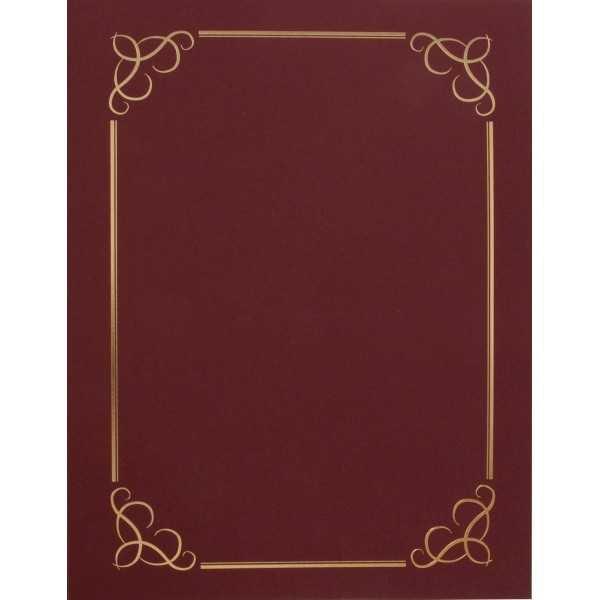 Carpetas Para Certificados Granate 5 Uds Apli 13406