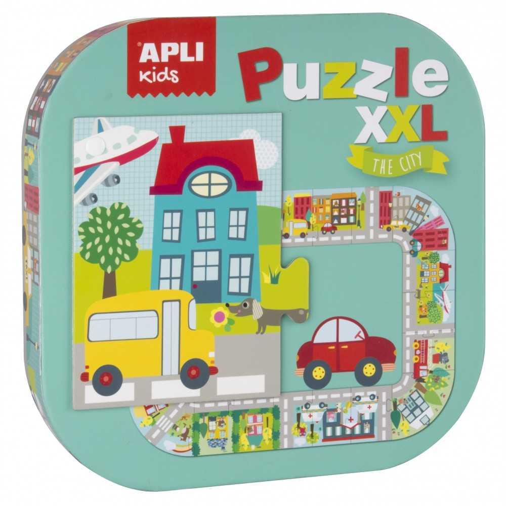 "Puzzle XXL Pîezas de 14.5 cm Alto ""La Ciudad "" Apli Kids 16578"