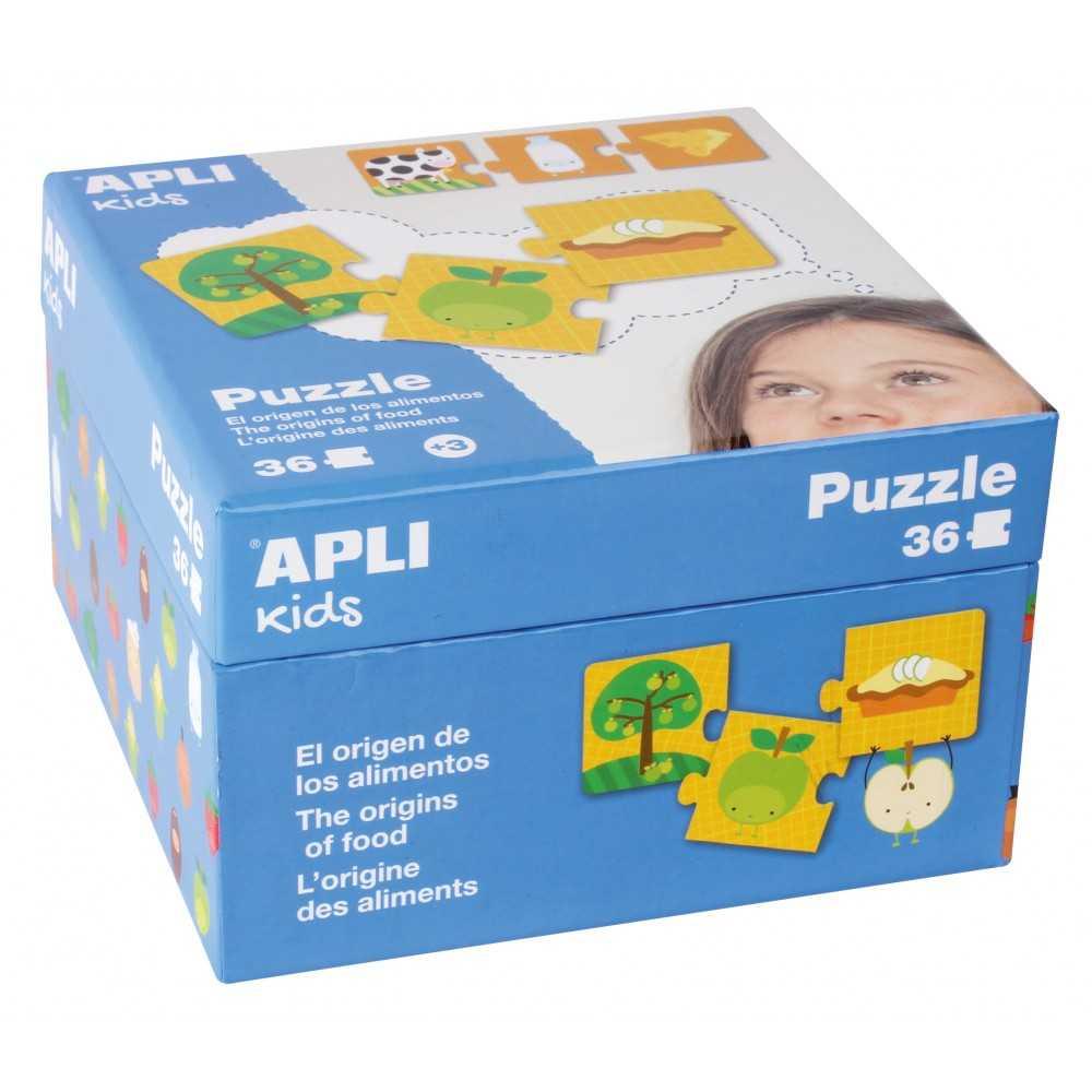 """Puzzle 36 Piezas """"El Origen de los Alimentos"""" Apli 14360"""