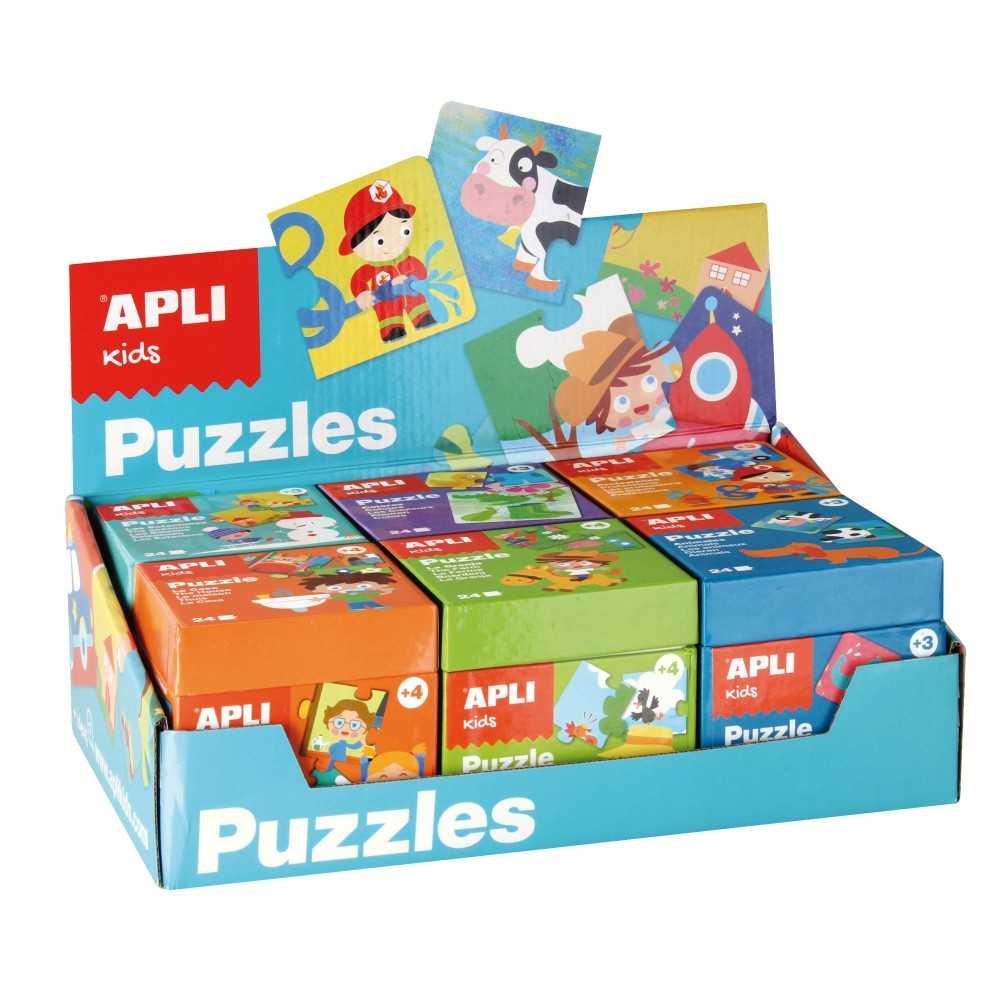 Expositor 6 Cajas De Puzzles Apli 13856