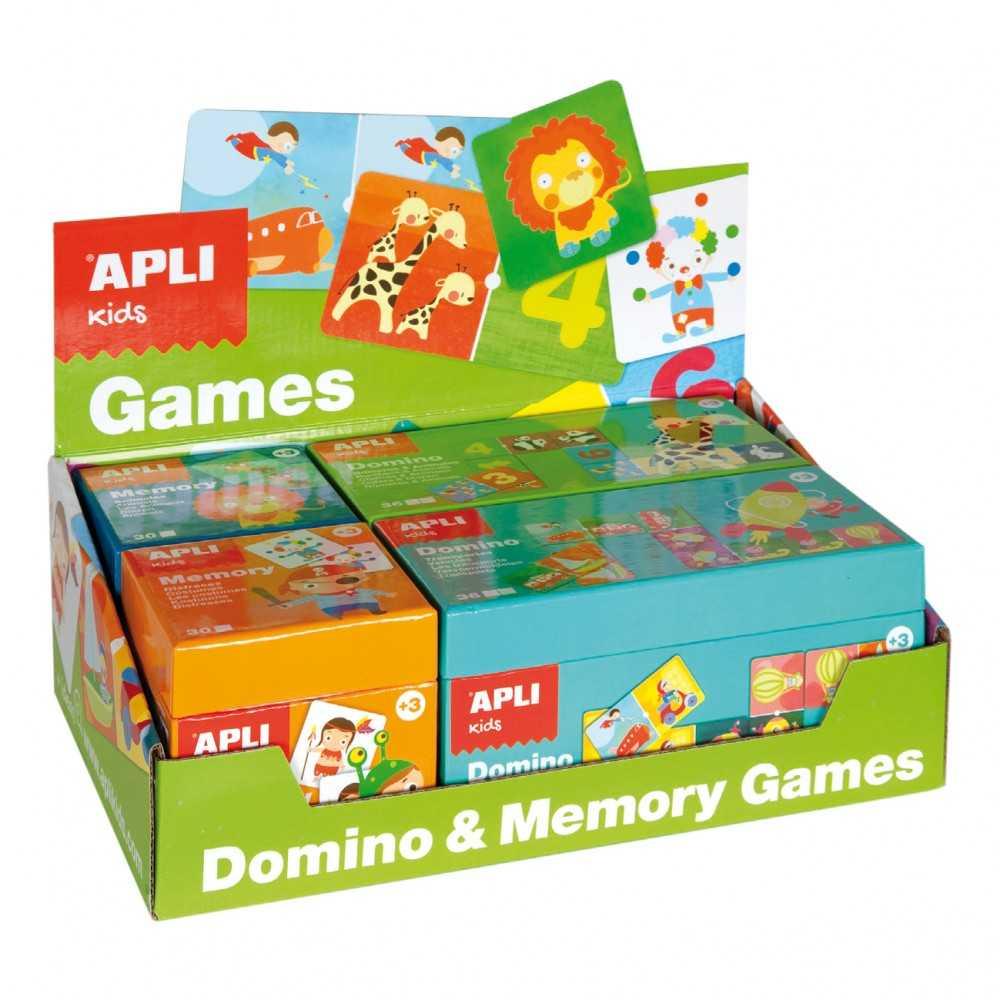 Caja con 2 Domino y 2 Memori Apli 13857