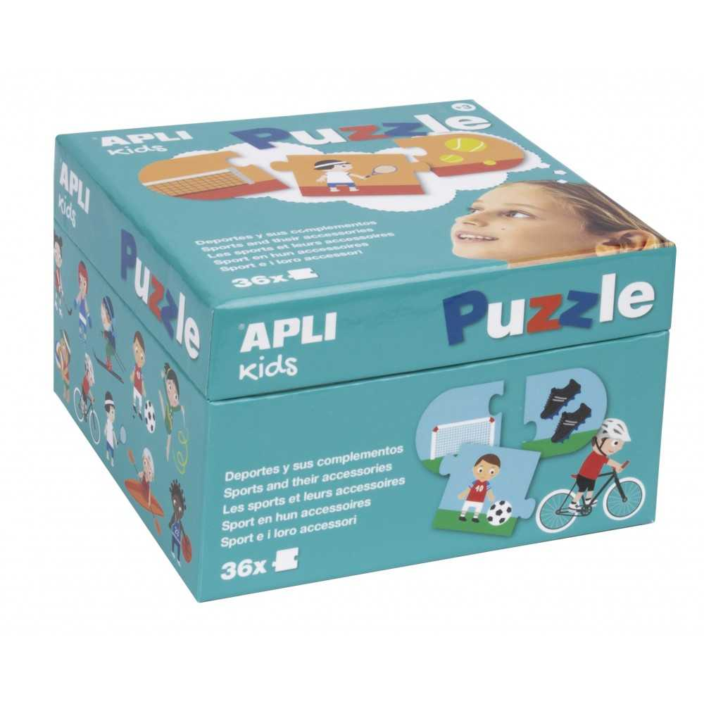 """Puzle en Caja de Cartón """" Deporres y Complementos"""" Apli 17239"""