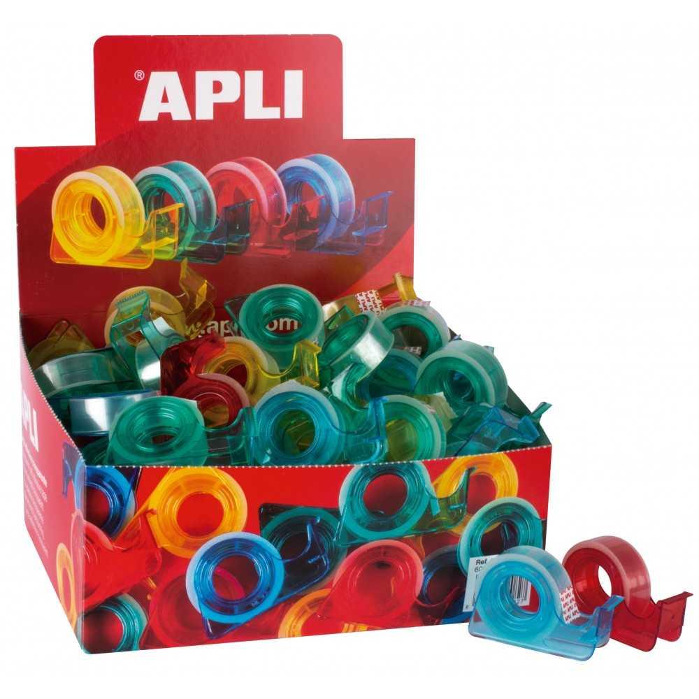 Dispensadores de Colore + Cinta adhesiva Apli 12082 compraetiquetas.com