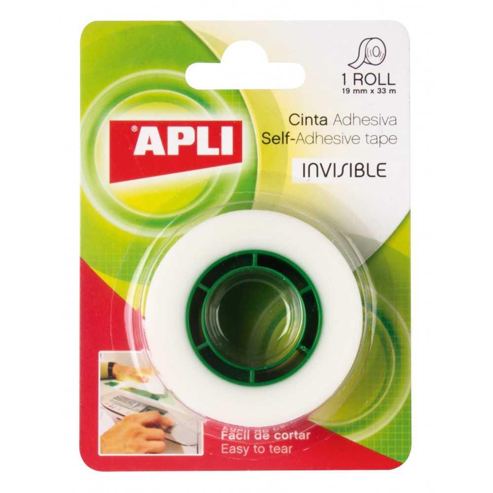 Cinta Adhesiva Transparente en Blister 12 mm x33 m Apli 11168 compraetiquetas.com