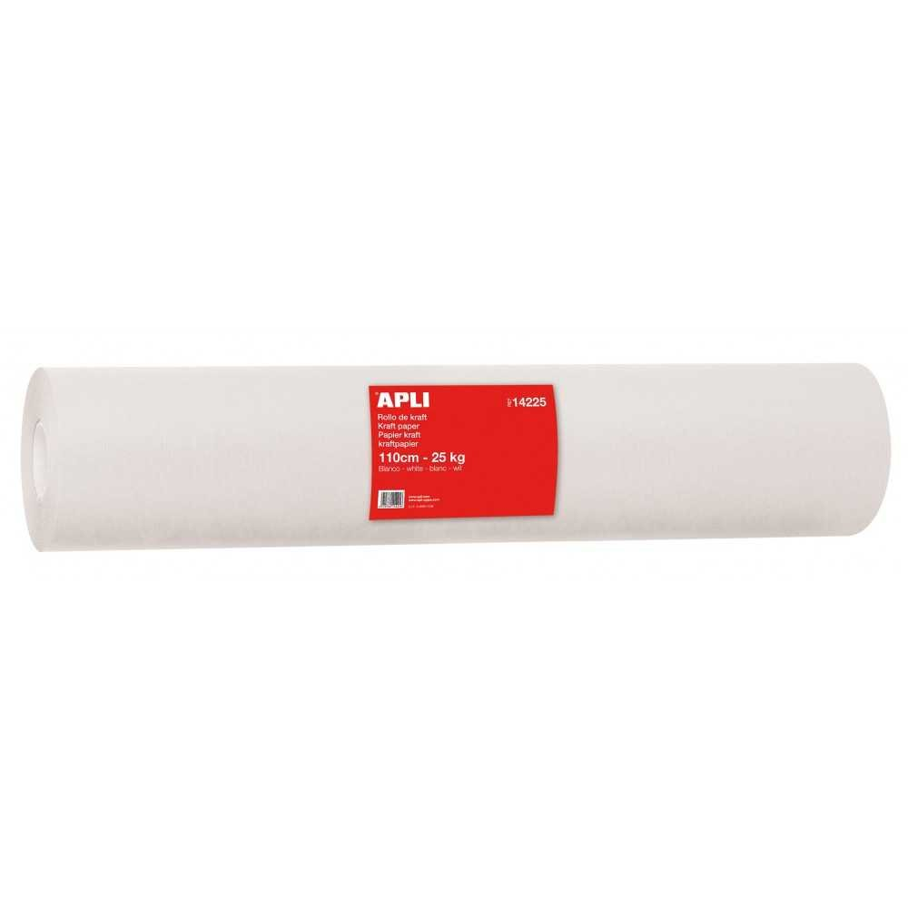 Bobina Papel Kraft color blanco de 110m Apli 14225