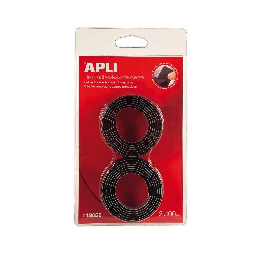 Tiras de Adhesivas Velcro Negro Para Cierre 1mx20mm Apli 13656