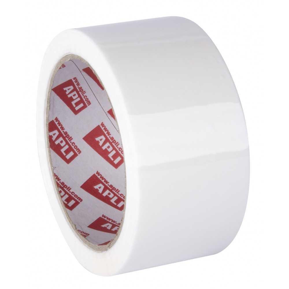 Rollo Precinto Adhesivo Sin Ruido 48 mm x 66m Blanco Apli 11941 compraetiquetas.com
