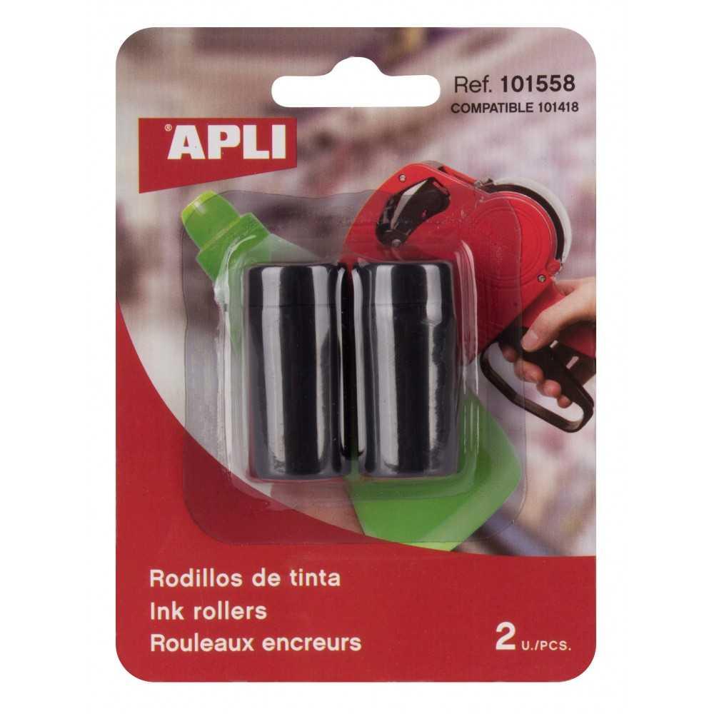 Blister 2 recambios de tinta etiquetadora 1 línea y 8 caracteres 101558 compraetiquetas.com