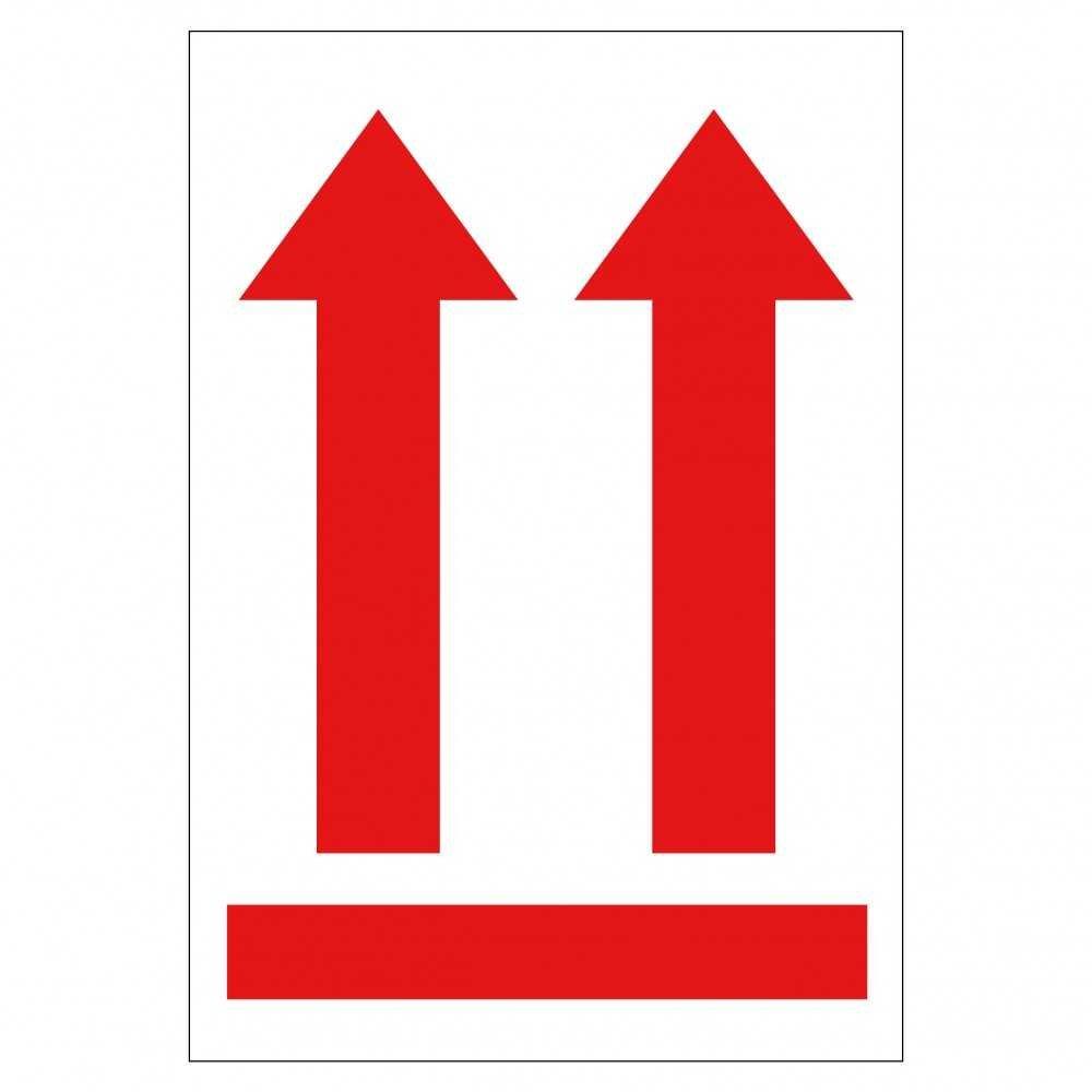 Rollo de Etiquetas de Posición Vertical FLECHAS Rojas Apli 12402