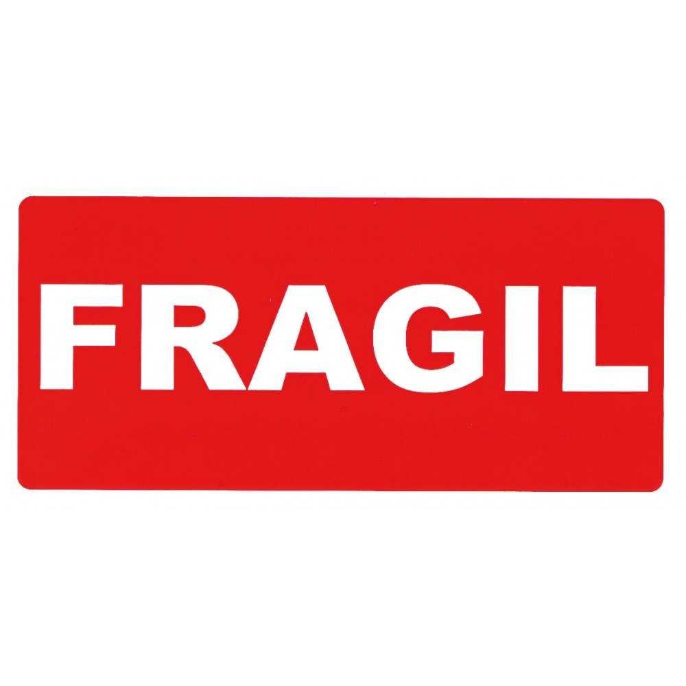 Rollo de 200 Etiquetas de envío con TEXTO FRAGIL apli 00296