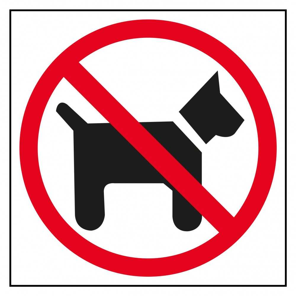 Etiquetas Señalización Prohibido Perros Apli 00846