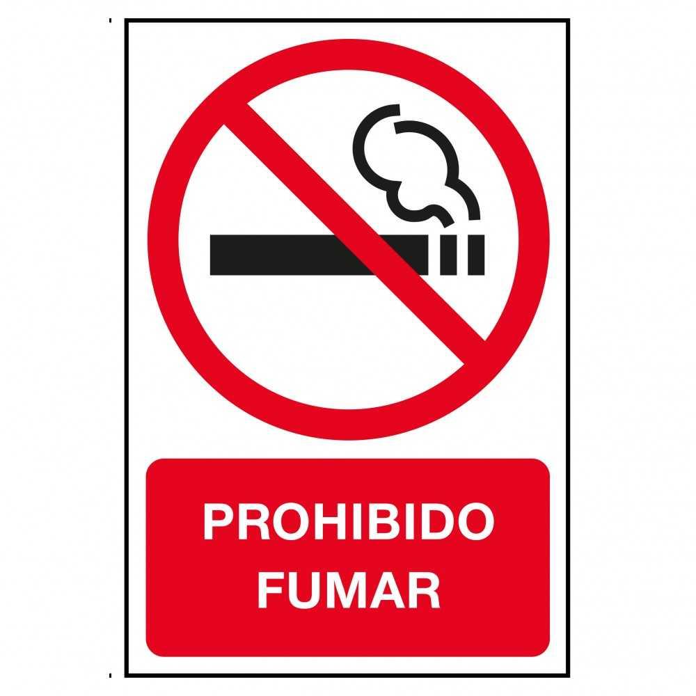 Etiquetas Señalización Prohibido Fumar Castellano Apli 11342