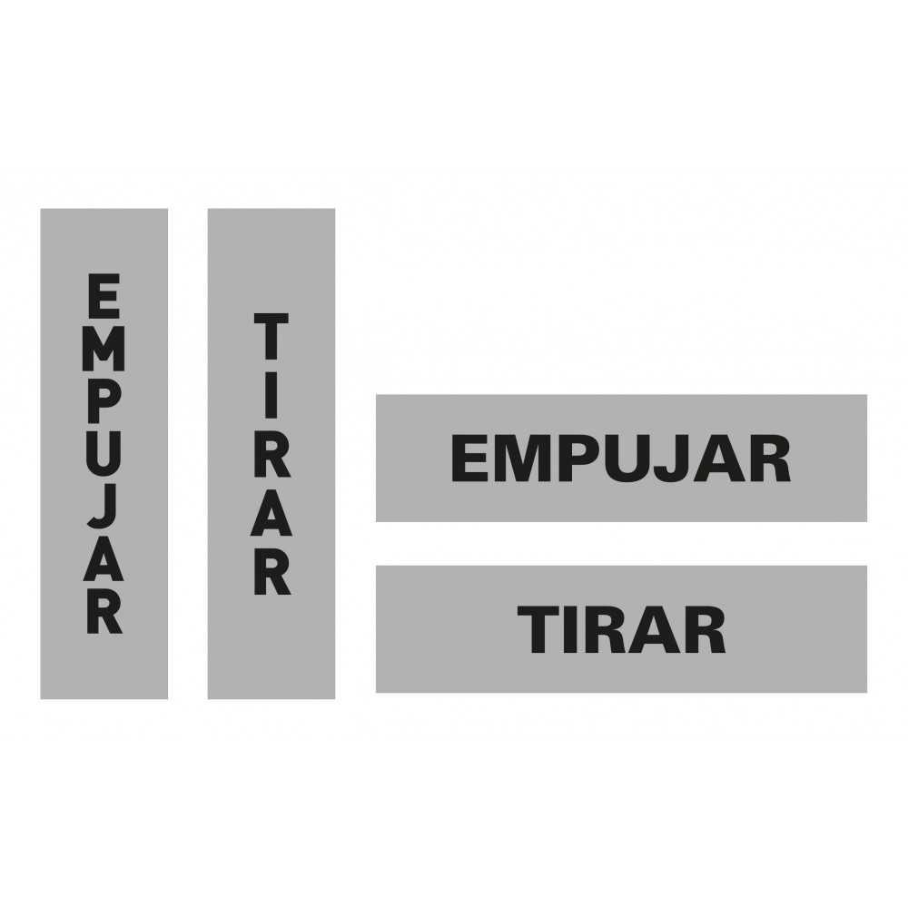 Etiquetas Señalización Cristales Texto Tirar/Empujar Apli 12136