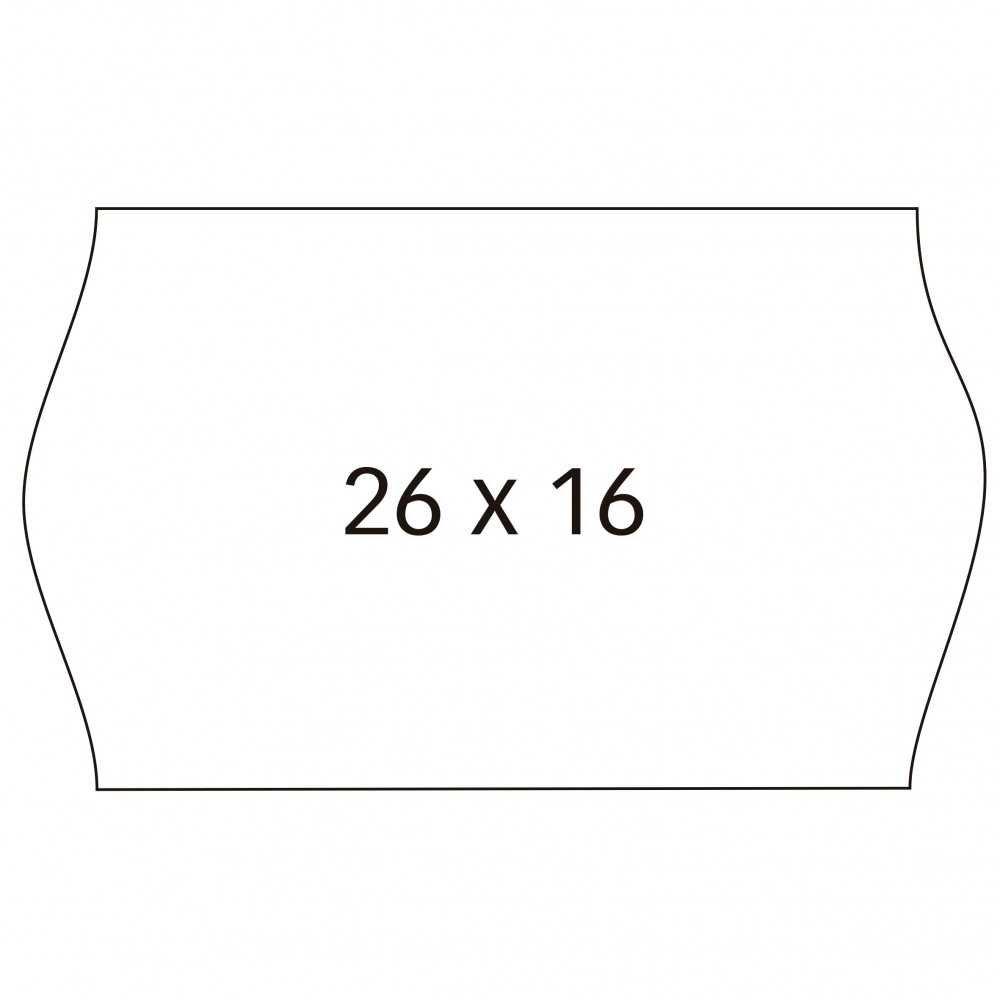 6 Rollos Etiquetas de Precio Blancas 26x16mm Permanentes Apli 100922 compraetiquetas.com