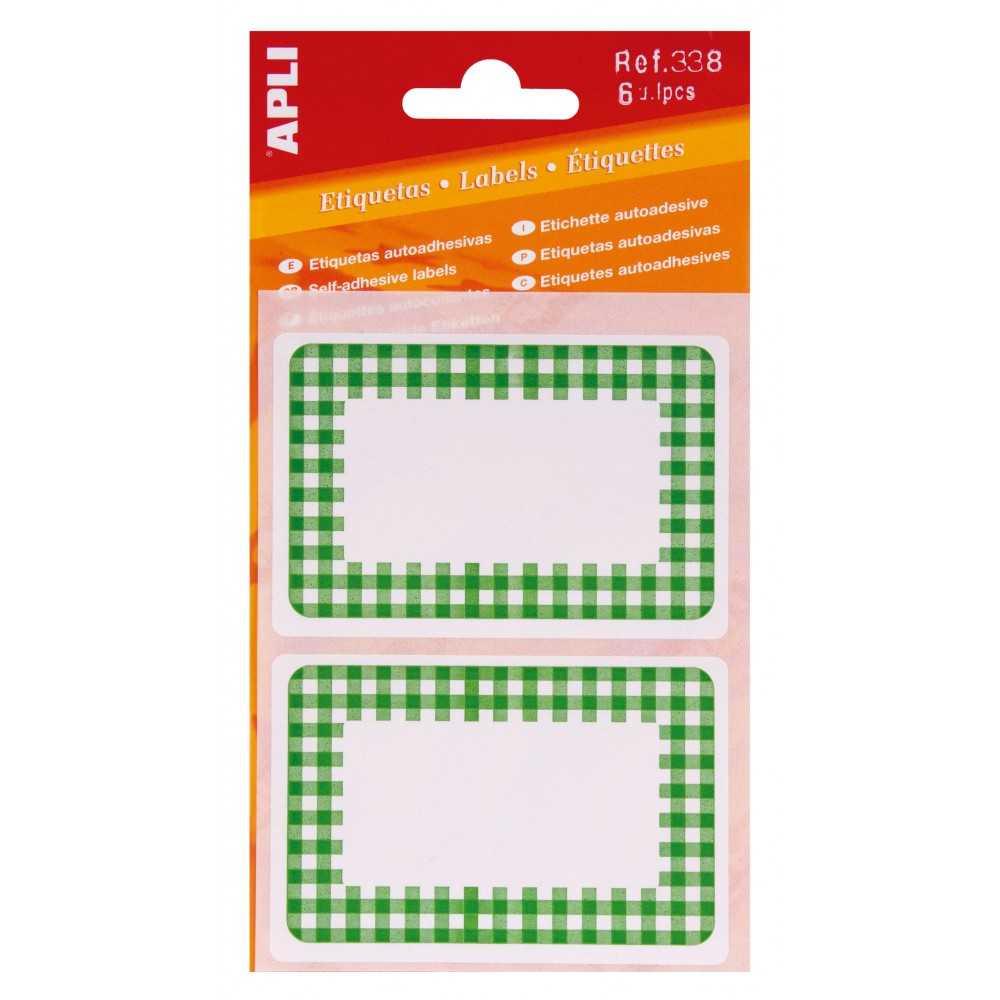 3H Etiquetas de Cocina Con Orla de Color Verde Apli 00338