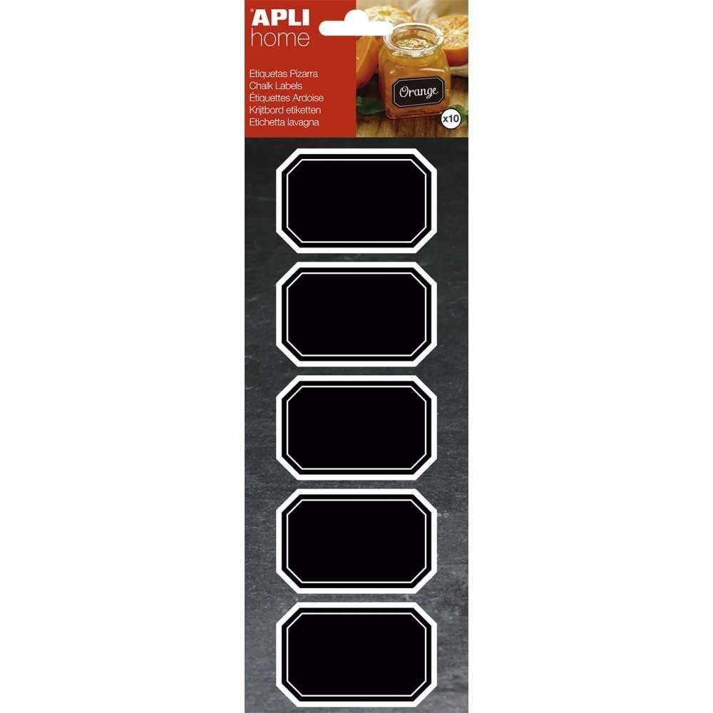 Etiquetas Removibles de Pizarra Octagonales 65x41mm Apli 16769