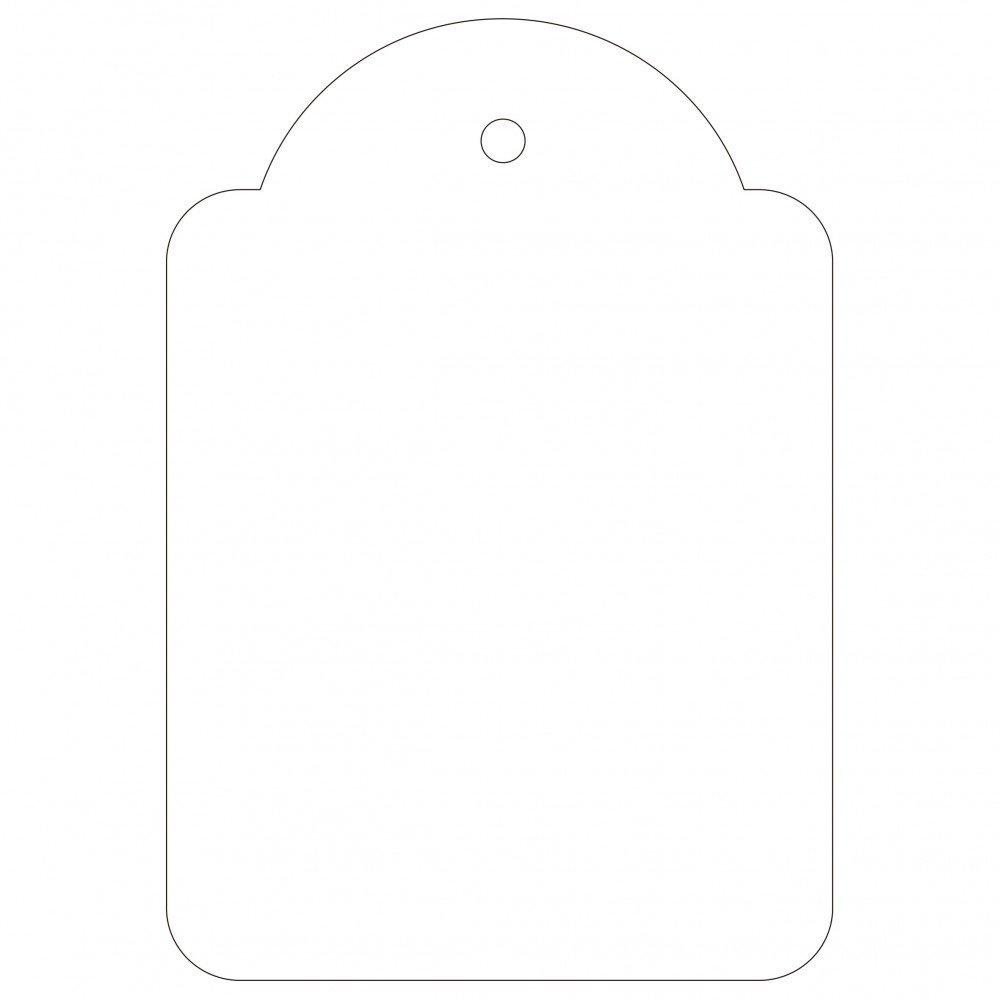 500 Etiquetas Blancas Colgantes con Hilo 45 x 65 mm Apli 00395