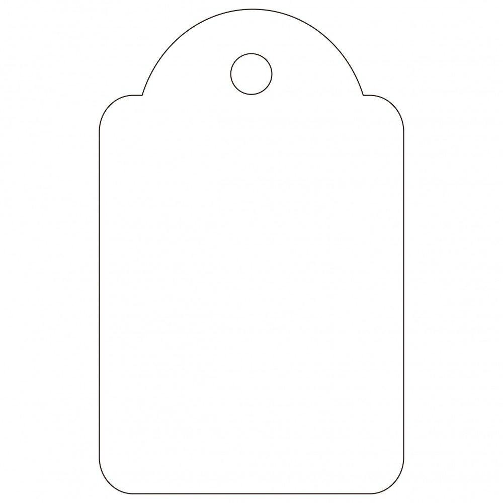 500 Etiquetas Blancas Colgantes con Hilo 22 x 35mm Apli 00390