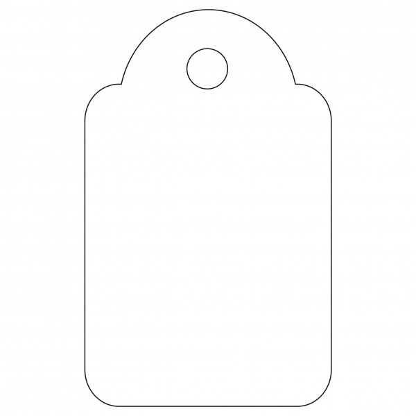 1000 Etiquetas Blancas Colgantes con Hilo 18 x 29 mm Apli 00389