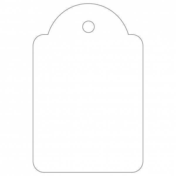 100 Etiquetas Blancas Colgantes con Hilo 28 x 43 mm Apli 07012