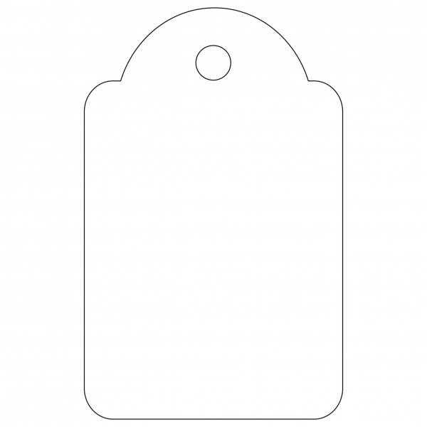 100 Etiquetas Blancas Colgantes con Hilo 22 x 35mm Apli 07011