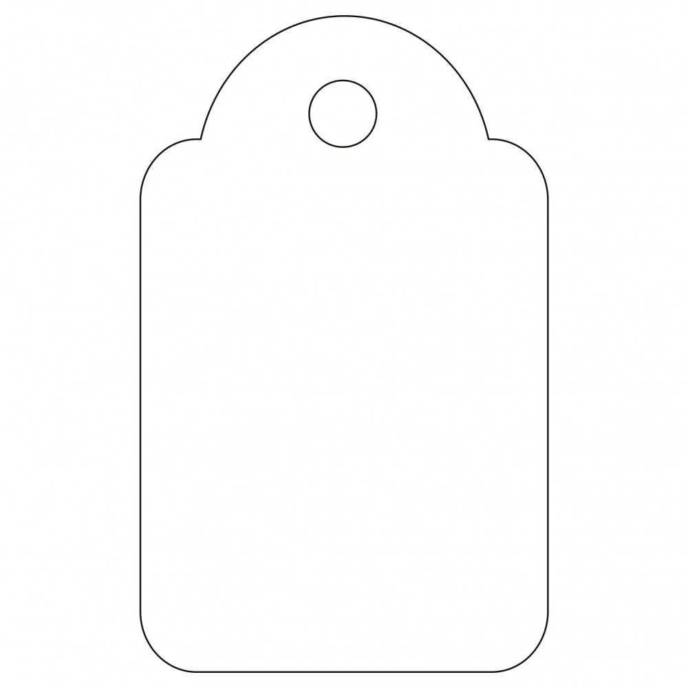 200 Etiquetas Blancas Colgantes con Hilo 18 x 29 mm Apli 07010