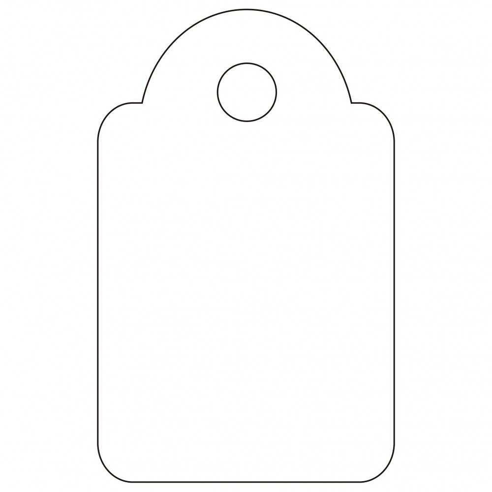 200 Etiquetas Blancas Colgantes con Hilo 15 x 24 mm Apli 07009