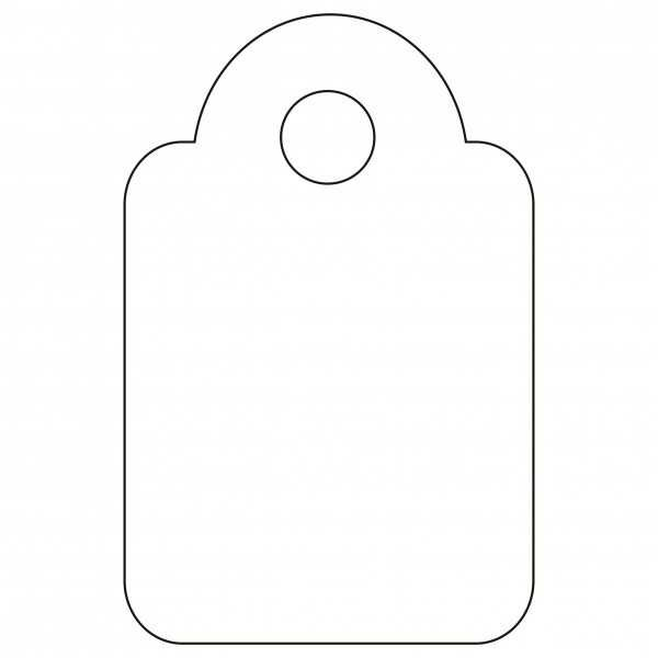 200 Etiquetas Blancas Colgantes con Hilo 13 x 20 mm Apli 07008