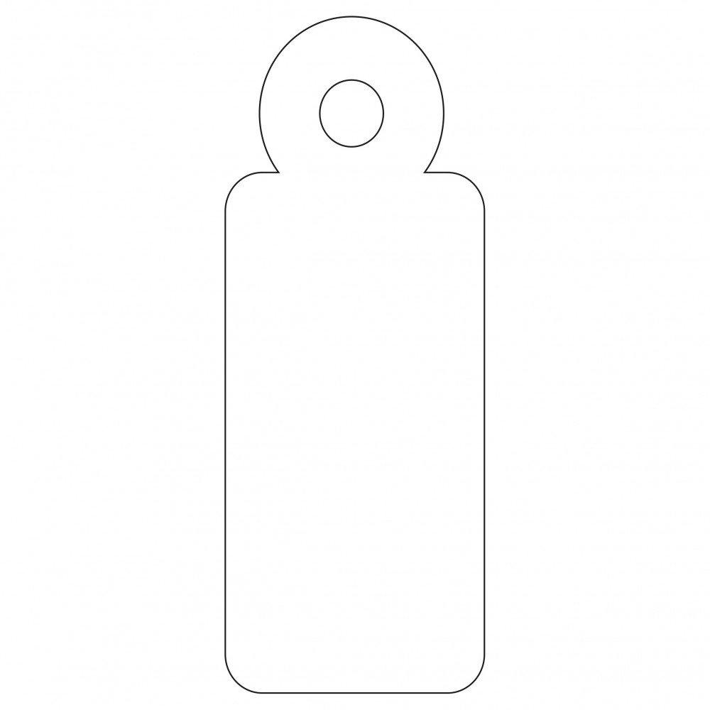 1000 Etiquetas Blancas Colgantes con Hilo 13 x 34 mm Apli 00386