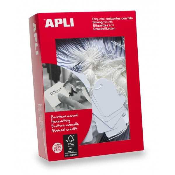 Etiquetas Colgantes con hilo  Para precios Apli 00385