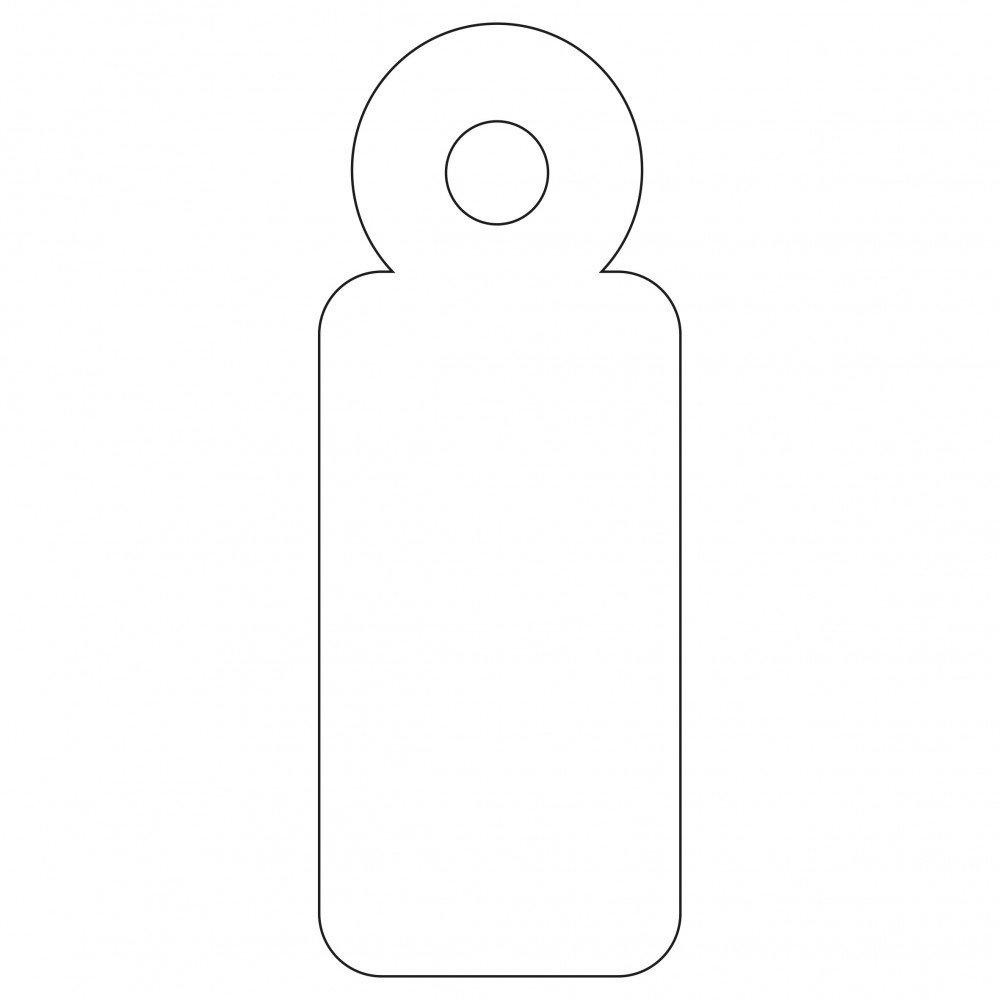 200 Etiquetas Blancas Colgantes con Hilo 11 x 29 mm Apli 07006