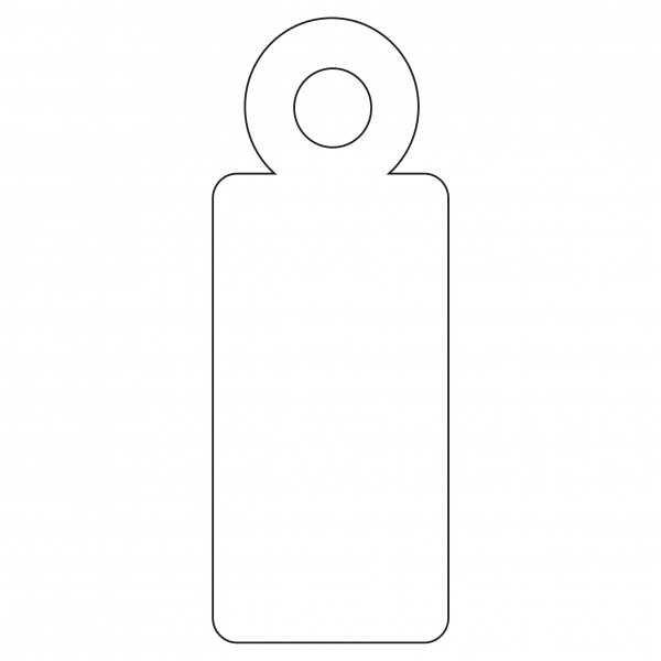 200 Etiquetas Blancas Colgantes con Hilo 9 x 24 mm Apli 07005