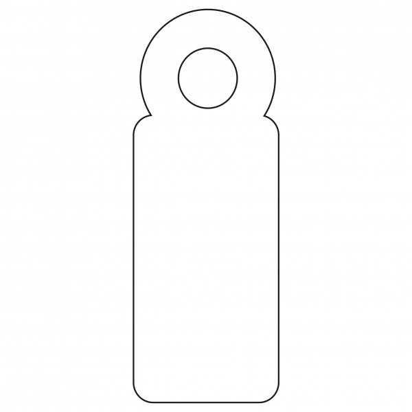 200 Etiquetas Blancas Colgantes con Hilo 7 x 19 mm Apli 07004