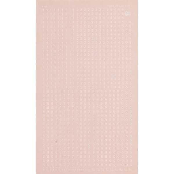 Hoja Números y Signos Transferibles Color Blanco 2.5mm Decadry by Apli DDB14F