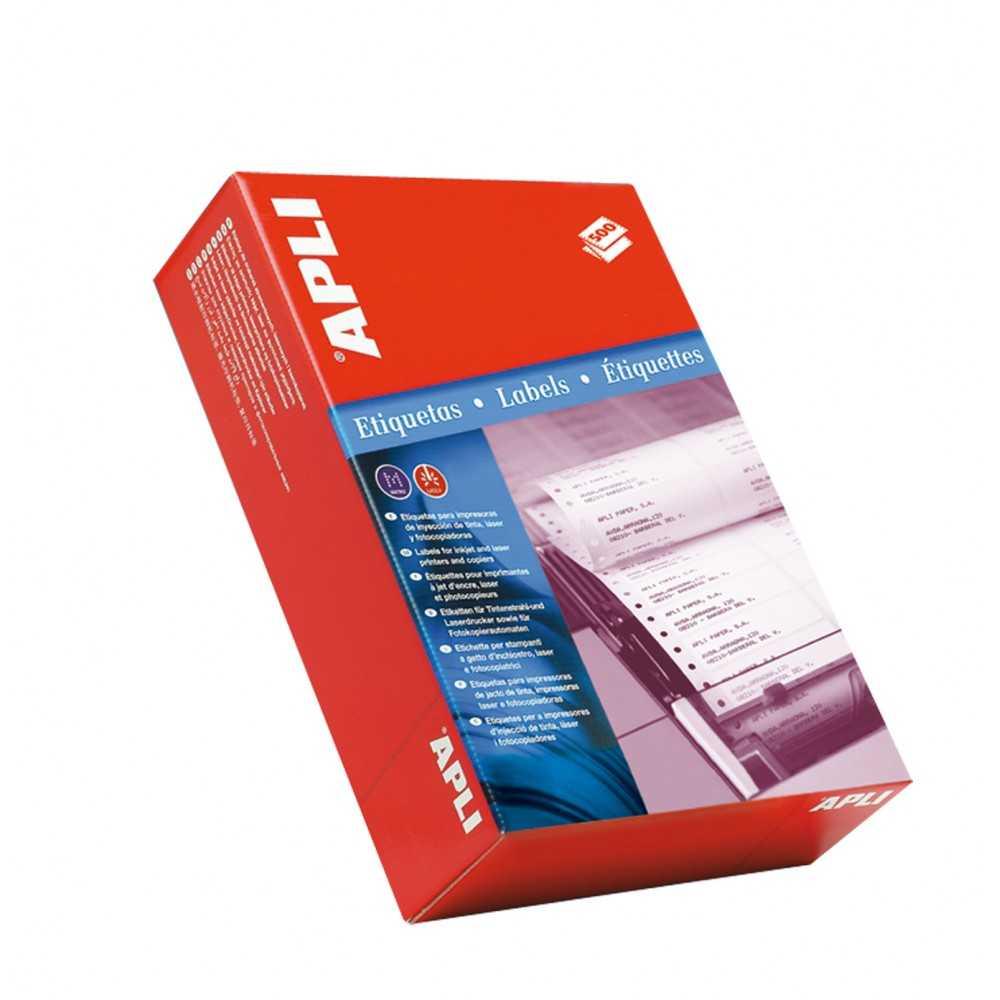 Etiquetas impresoras matriciales en papel continuo 101.6 x 36mm Apli 00017