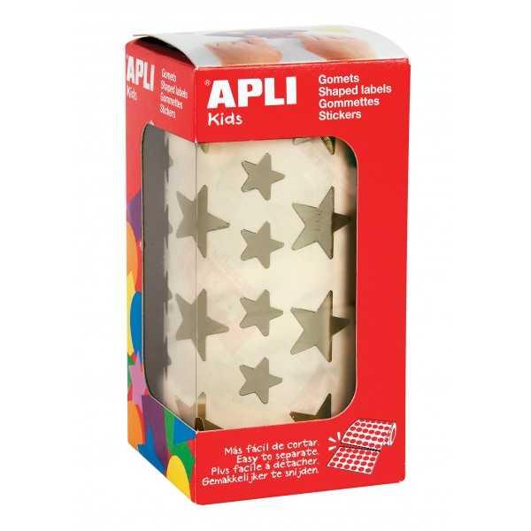 Rollo Gomets Estrellas Doradas 12,5 y 19,5 mm Apli 11116