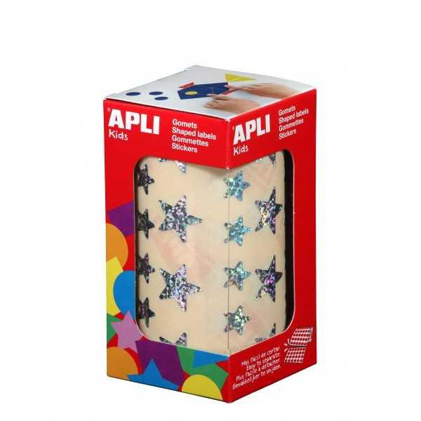 Gomets en Rollo Estrellas Olograficas Apli 11635 compraetiquetas.com
