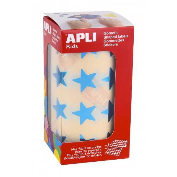 Rollo Gomets Estrellas Azules 19,5 mm Apli 12052
