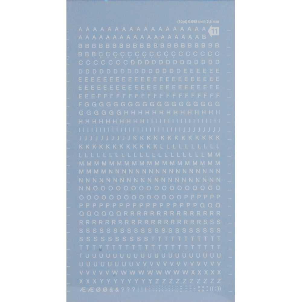 Letras Mayúsculas Transferibles Blancas 2,5 mm Apli DDB11F