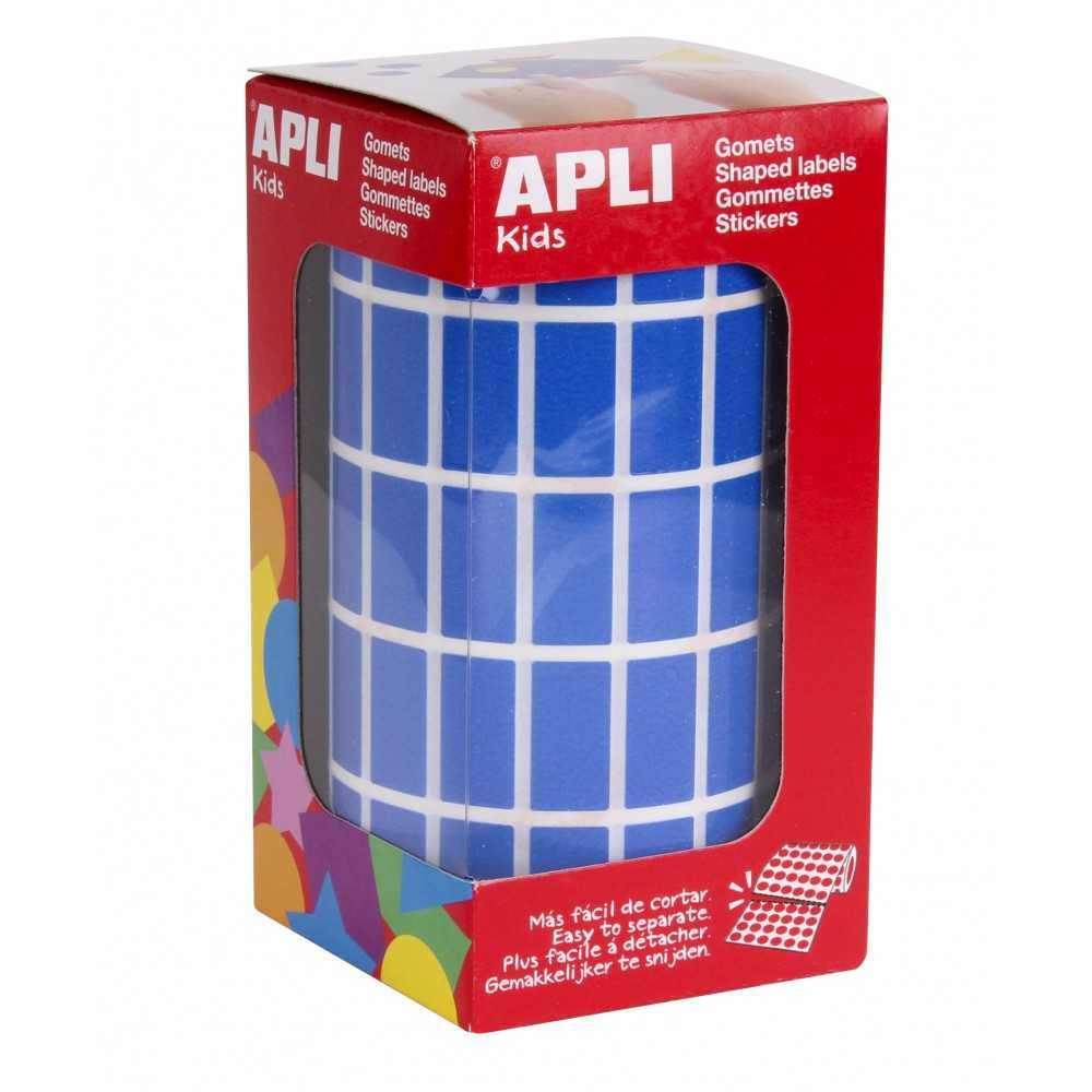 Rollo Gomets Rectangulares Azules 10x20 mm Apli 04884