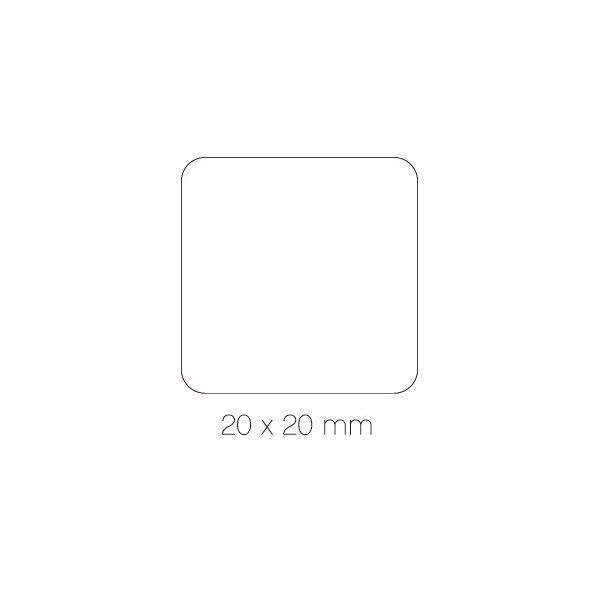 Rollo de Gomets Cuadrado Color Rosa 20mm Apli 11499