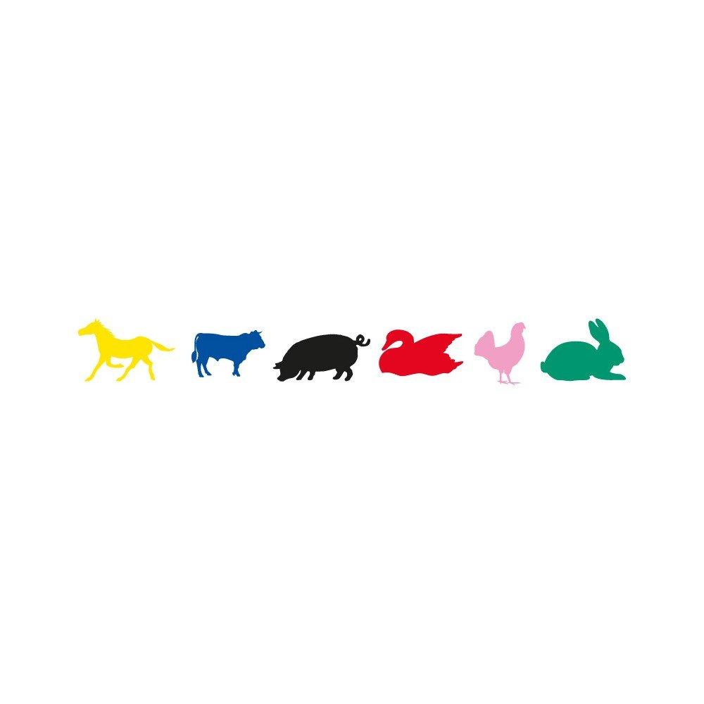12h de Gomets Permantes Animales Granja Apli 10114 compraetiquetas.com