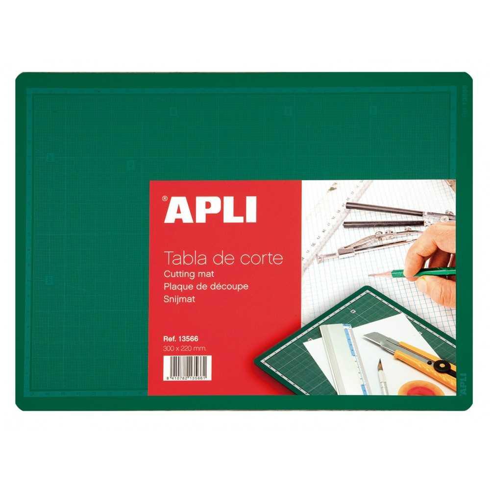 Tabla de corte PVC 300 x 220 mm (A4) Apli 13566 compraetiquetas.com
