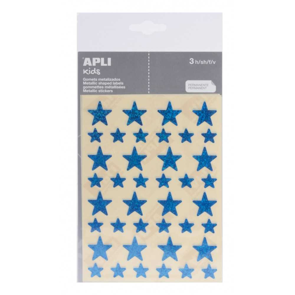 Bolsa Gomets Estrellas Holográficos Azules 3H Apli 12057