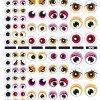 3 Hojas Gomets Temáticos Los Ojos Rosa/Naranja Apli 13855