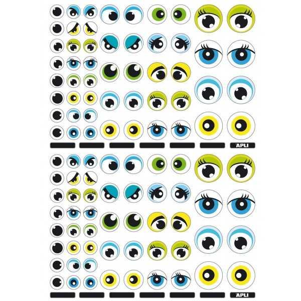 3H Gomets Temáticos Los Ojos Apli 13854