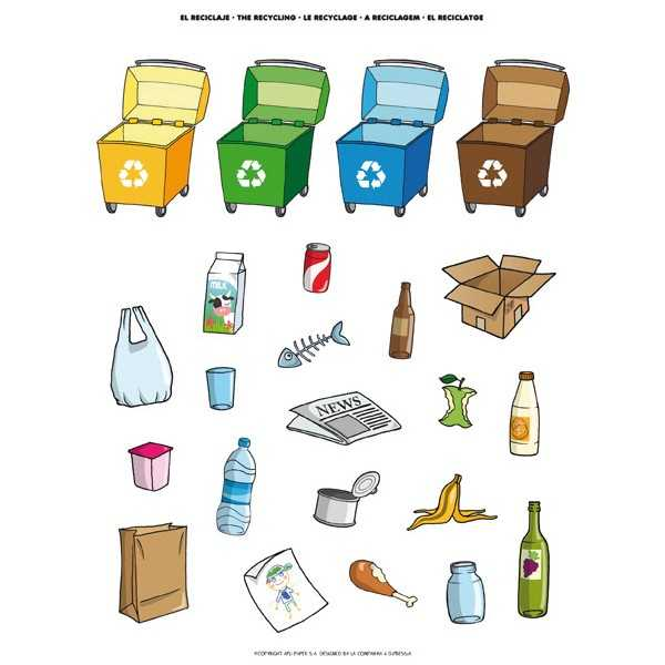 12 Hojas Gomets Temáticos Reciclaje Apli 12788